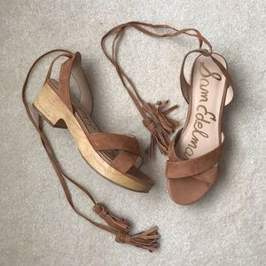 Sam Edelman | Jenna Suede Ankle Wrap Tie Sandal